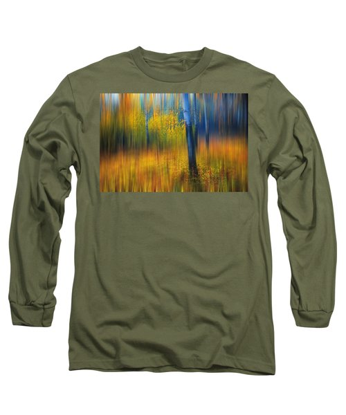 In The Golden Woods. Impressionism Long Sleeve T-Shirt