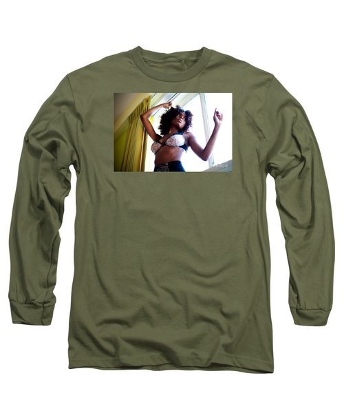 In The Window Long Sleeve T-Shirt by Gregory Worsham