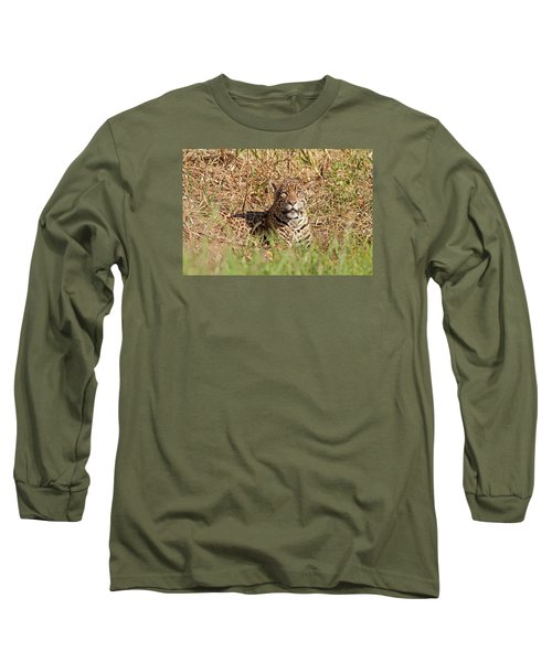 Jaguar Watching Long Sleeve T-Shirt by Aivar Mikko