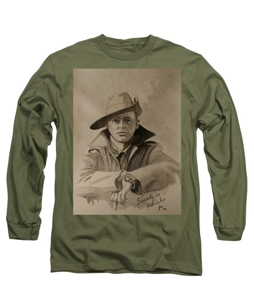 Long Sleeve T-Shirt featuring the painting Joe by Ray Agius