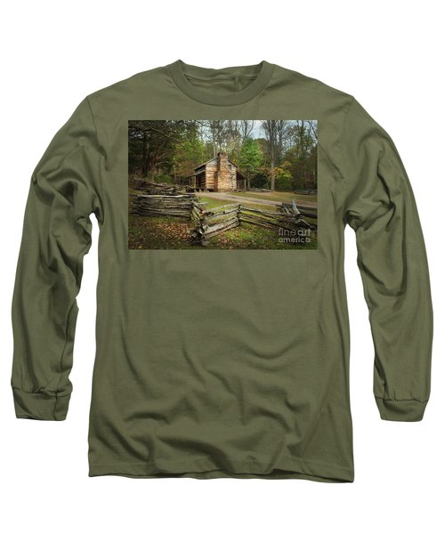 John Oliver Cabin Cades Cove Long Sleeve T-Shirt by Lena Auxier