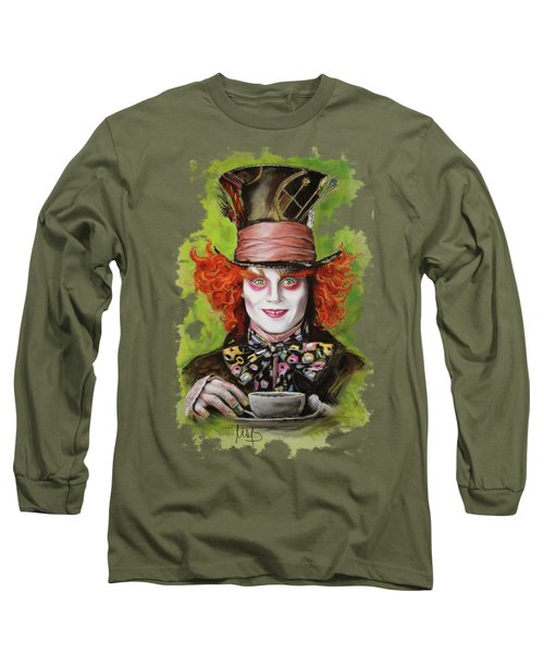 Johnny Depp As Mad Hatter Long Sleeve T-Shirt