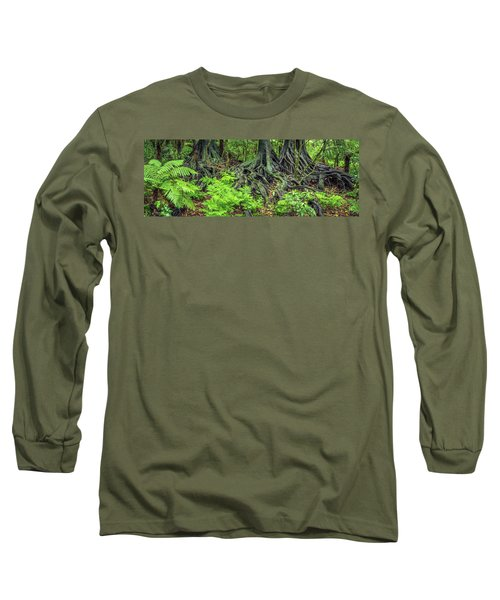 Long Sleeve T-Shirt featuring the photograph Jungle Roots by Les Cunliffe