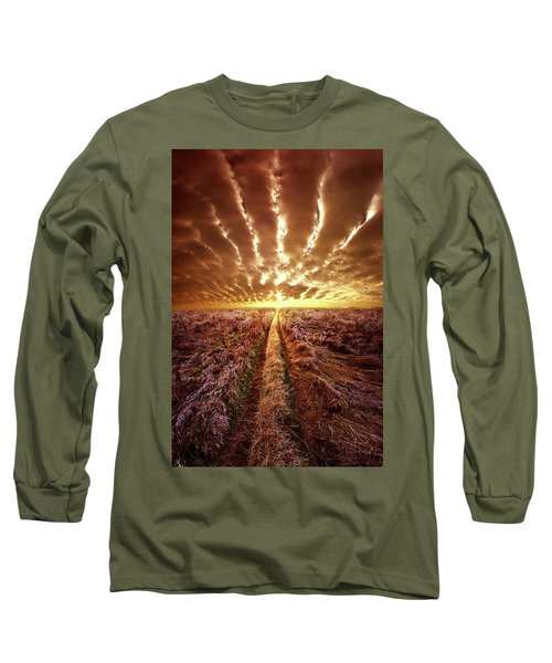 Long Sleeve T-Shirt featuring the photograph Just Over The Horizon by Phil Koch