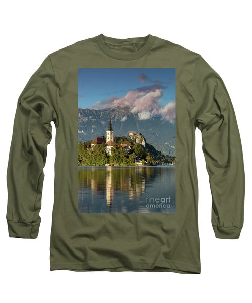 Long Sleeve T-Shirt featuring the photograph Lake Bled by Brian Jannsen
