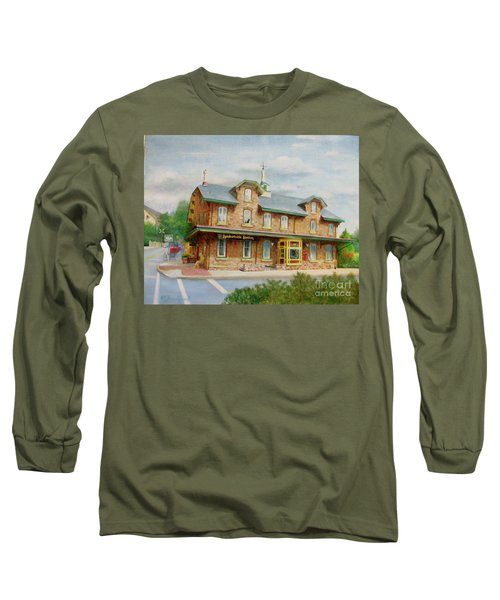 Lambertville Inn Long Sleeve T-Shirt by Oz Freedgood