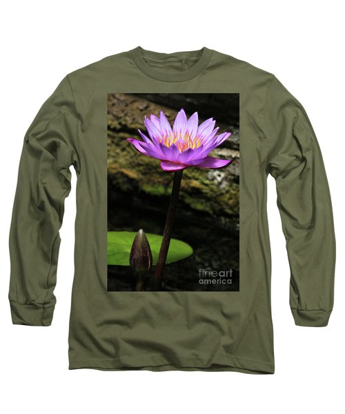 Lavender Water Lily #4 Long Sleeve T-Shirt