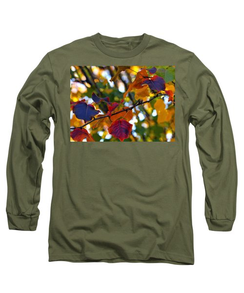Leaves Of Autumn Long Sleeve T-Shirt by Stephen Anderson