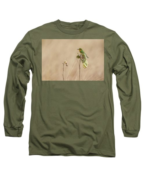 Long Sleeve T-Shirt featuring the tapestry - textile Little Bee-eater by Kathy Adams Clark