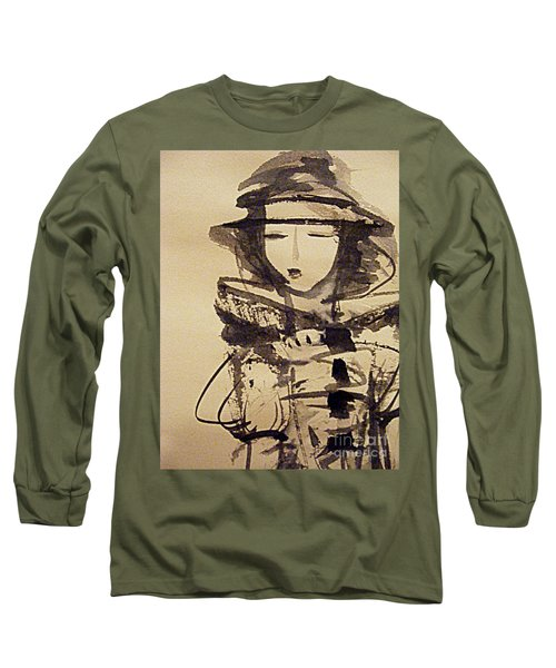 Lost In Thought Long Sleeve T-Shirt by Nancy Kane Chapman