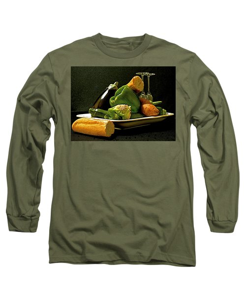 Long Sleeve T-Shirt featuring the photograph Lunch Time by Elf Evans