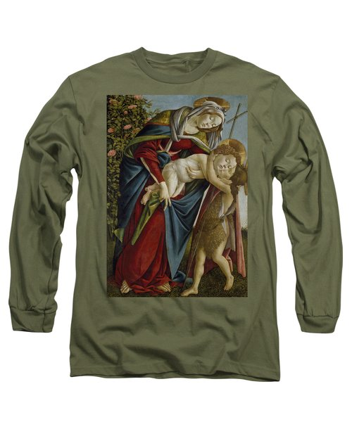 Madonna And Child And The Young St John The Baptist Long Sleeve T-Shirt