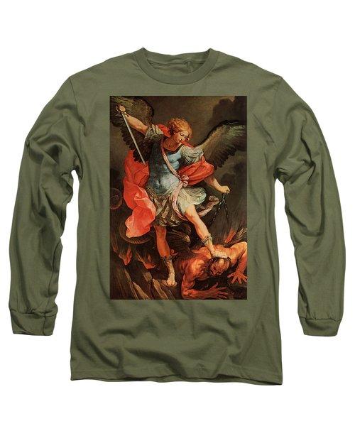 Michael Defeats Satan Long Sleeve T-Shirt