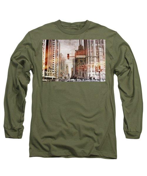Michigan Ave - Chicago  Long Sleeve T-Shirt