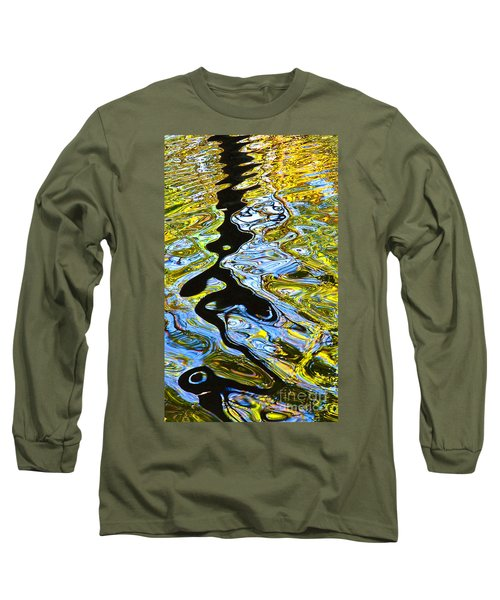 Mill Pond Reflection Long Sleeve T-Shirt by Tom Cameron