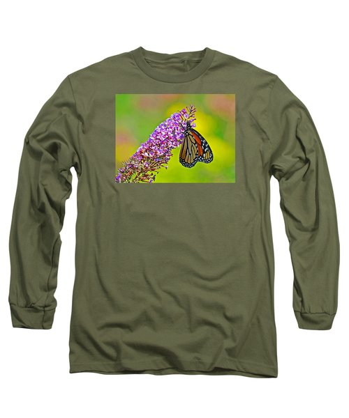 Monarch Butterfly Long Sleeve T-Shirt by Rodney Campbell