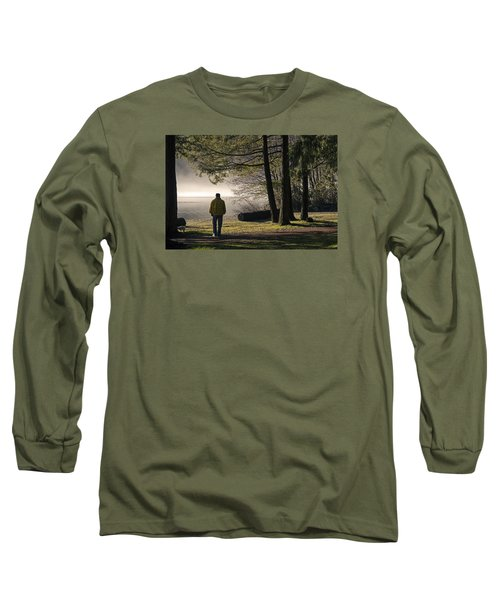 Long Sleeve T-Shirt featuring the photograph Morning Walk by Inge Riis McDonald