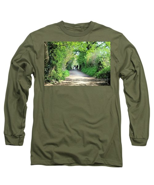 Long Sleeve T-Shirt featuring the photograph Morning Walk by Katy Mei