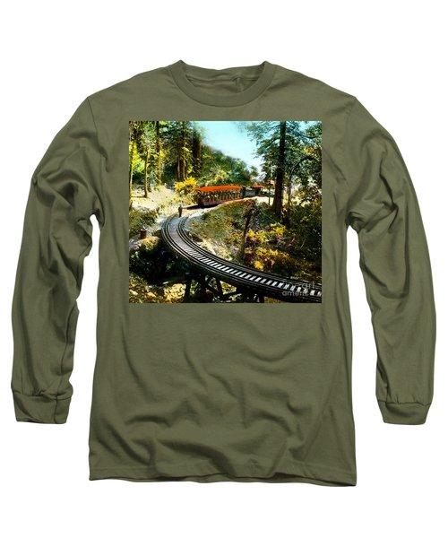 Mount Tamalpais Railway In The 1890s California Long Sleeve T-Shirt