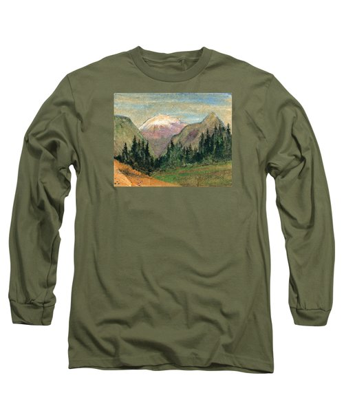 Mountain View Long Sleeve T-Shirt by R Kyllo