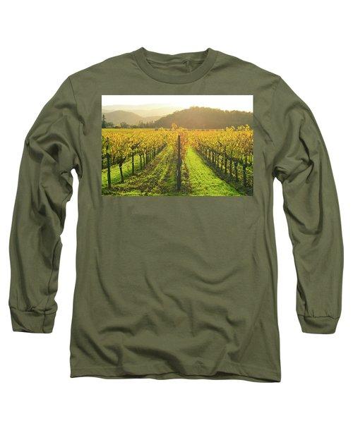 Napa Valley California Vineyard In The Fall Long Sleeve T-Shirt