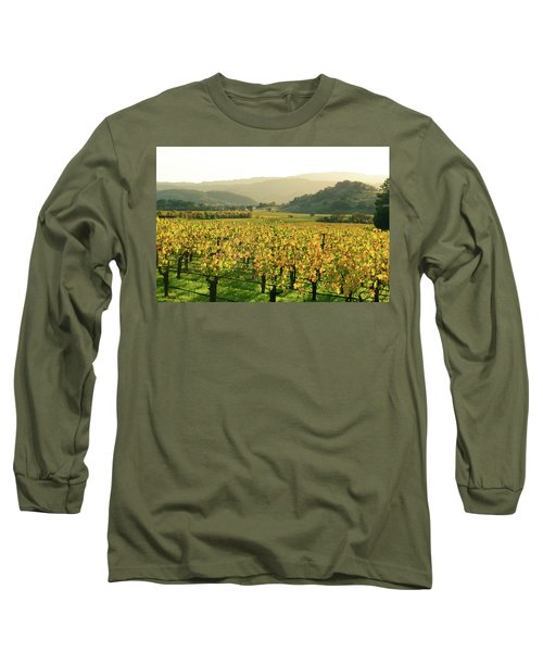Napa Valley In Autumn Long Sleeve T-Shirt