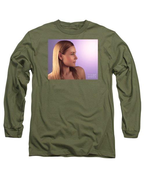 Natural Woman Portrait Long Sleeve T-Shirt