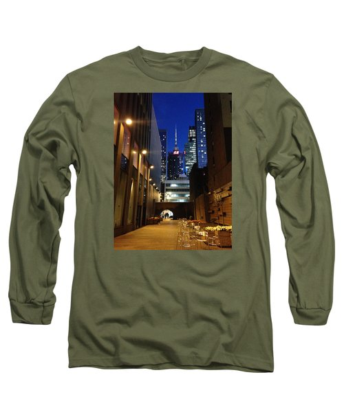 Long Sleeve T-Shirt featuring the photograph New York Night by Helen Haw