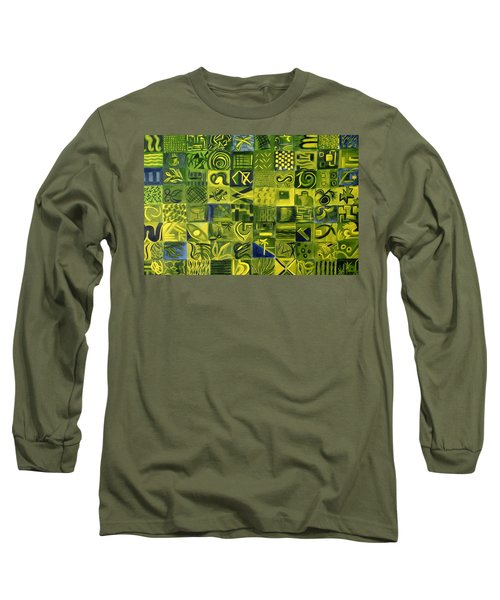 Long Sleeve T-Shirt featuring the painting Night On The Lawn by Patricia Cleasby