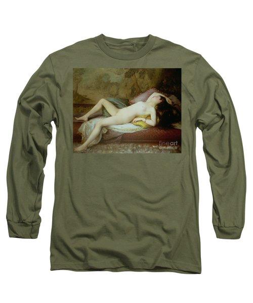 Nude Lying On A Chaise Longue Long Sleeve T-Shirt