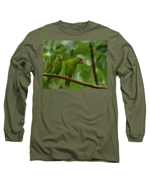 Orange -chinned Parakeets  Long Sleeve T-Shirt