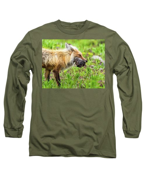 Out Foxed  Long Sleeve T-Shirt by Scott Warner