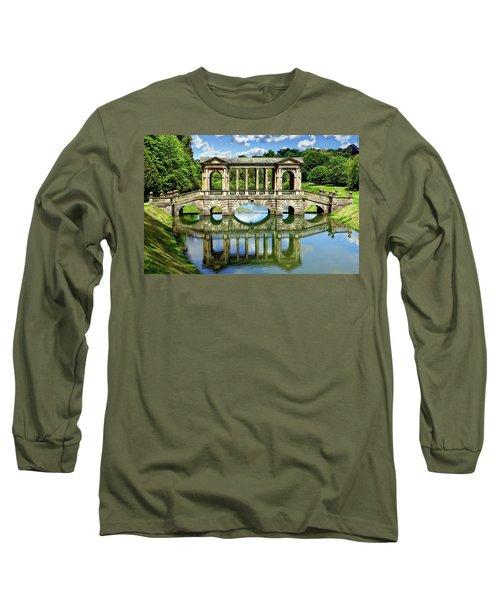 Palladian Bridge Nature Scene Long Sleeve T-Shirt