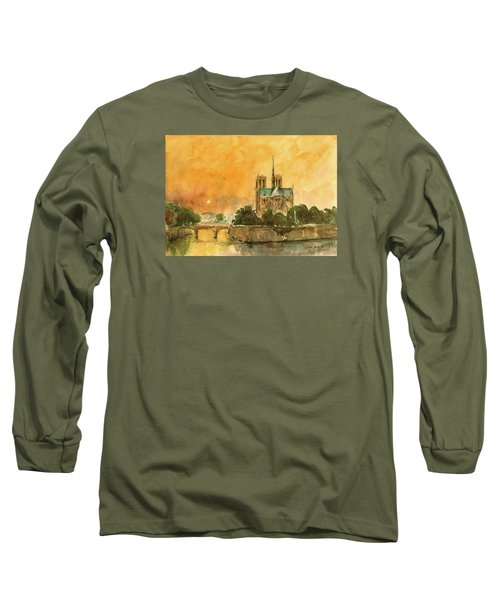 Paris Notre Dame Long Sleeve T-Shirt