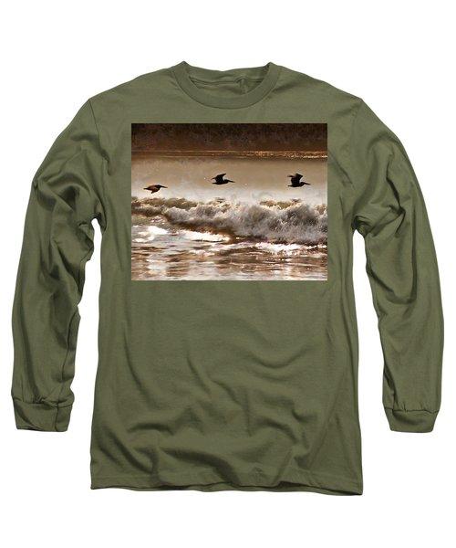 Pelican Patrol Long Sleeve T-Shirt by Jim Proctor