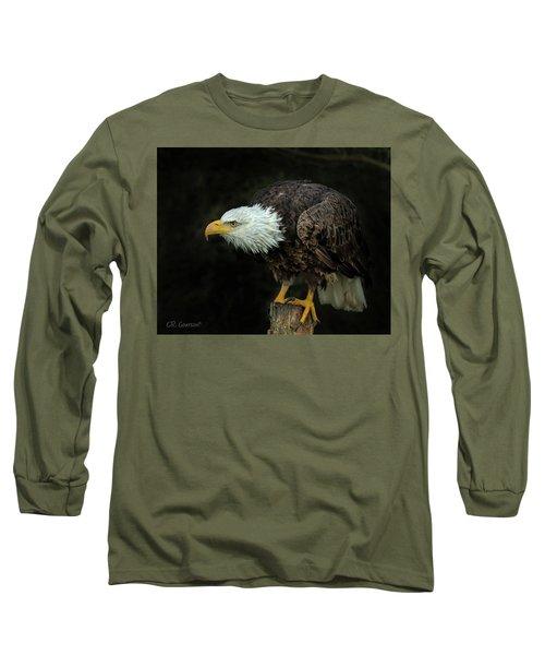 Perched Bald Eagle Long Sleeve T-Shirt