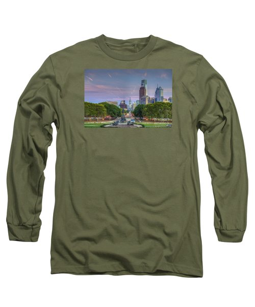 Philadelphia Cityscape Long Sleeve T-Shirt