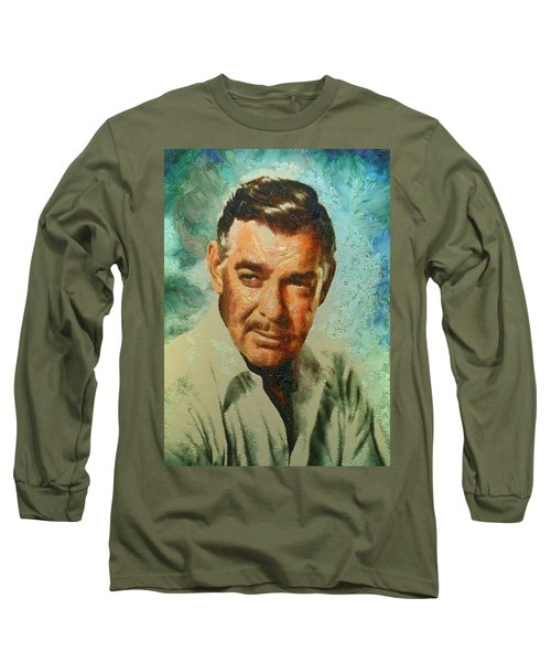 Portrait Of Clark Gable Long Sleeve T-Shirt