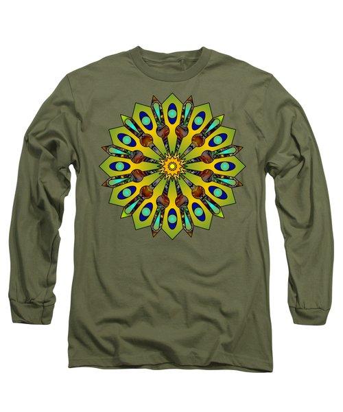 Psychedelic Mandala 004 A Long Sleeve T-Shirt by Larry Capra