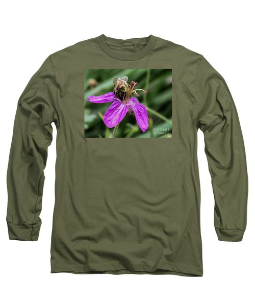 Purple Flower 3 Long Sleeve T-Shirt