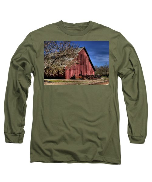 Long Sleeve T-Shirt featuring the photograph Red Barn by Jim and Emily Bush
