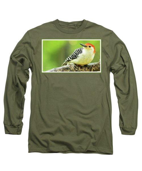 Red Bellied Woodpecker, Male, Animal Portrait Long Sleeve T-Shirt