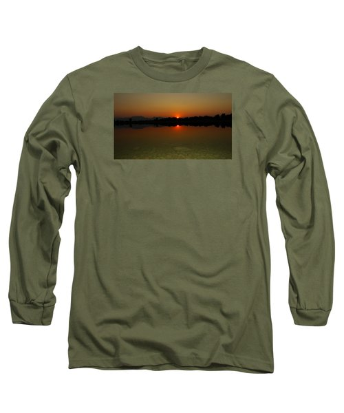 Red Dawn Long Sleeve T-Shirt by Eric Dee