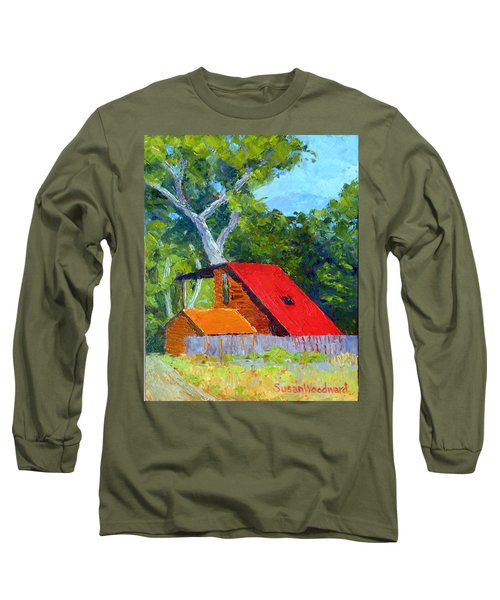 Red Roof Long Sleeve T-Shirt by Susan Woodward