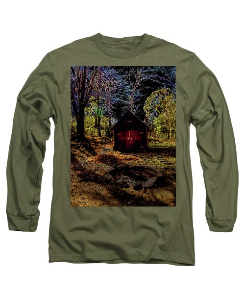 Long Sleeve T-Shirt featuring the photograph Red Shed by Randy Sylvia