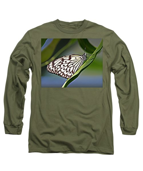 Rice Paper Butterfly 8 Long Sleeve T-Shirt