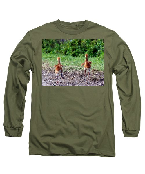 Sandhill Crane Chicks 000 Long Sleeve T-Shirt