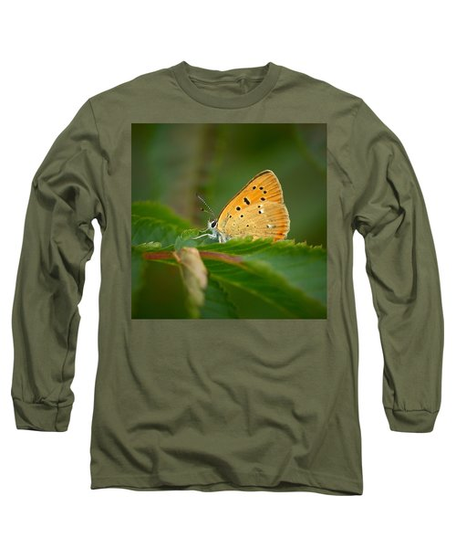 Long Sleeve T-Shirt featuring the photograph Scarce Copper by Jouko Lehto