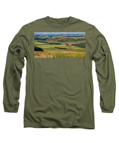 Scotland View From The English Borders Long Sleeve T-Shirt by Jeremy Lavender Photography