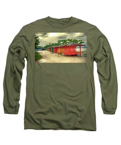 Long Sleeve T-Shirt featuring the photograph Shacks by Charuhas Images